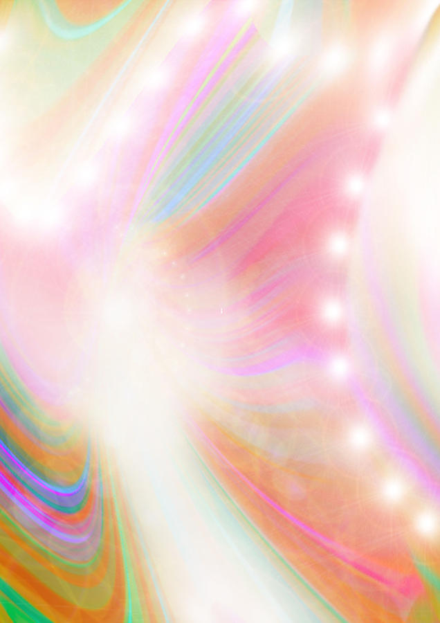 Angels Digital Art - Angel Of Light And Colour by Mairin Gilmartin