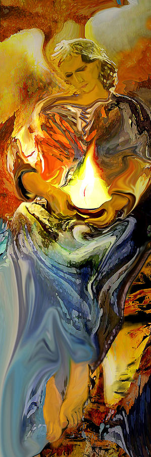 Angel Of Light Painting - Angel Of Light by Anne Weirich