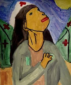 Nurse Painting - Angel Of Mercy by Annie Dameron