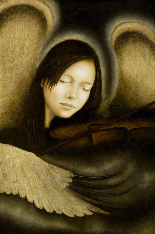 Angel Of Music Painting - Angel of Music by Nanne Nyander
