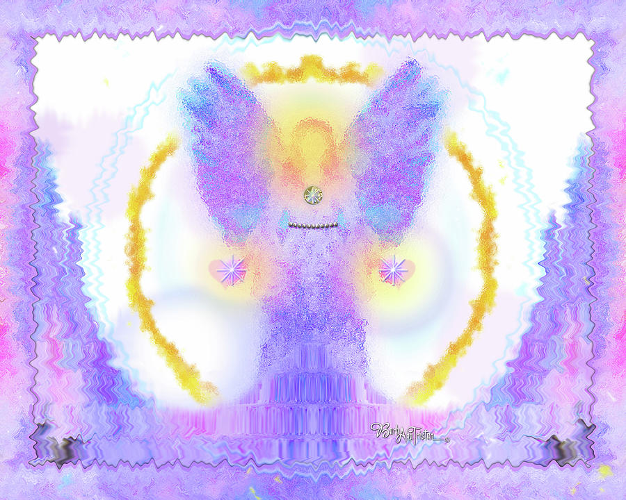 Inspiration Digital Art - Angel Of New Direction #180 by Barbara Tristan