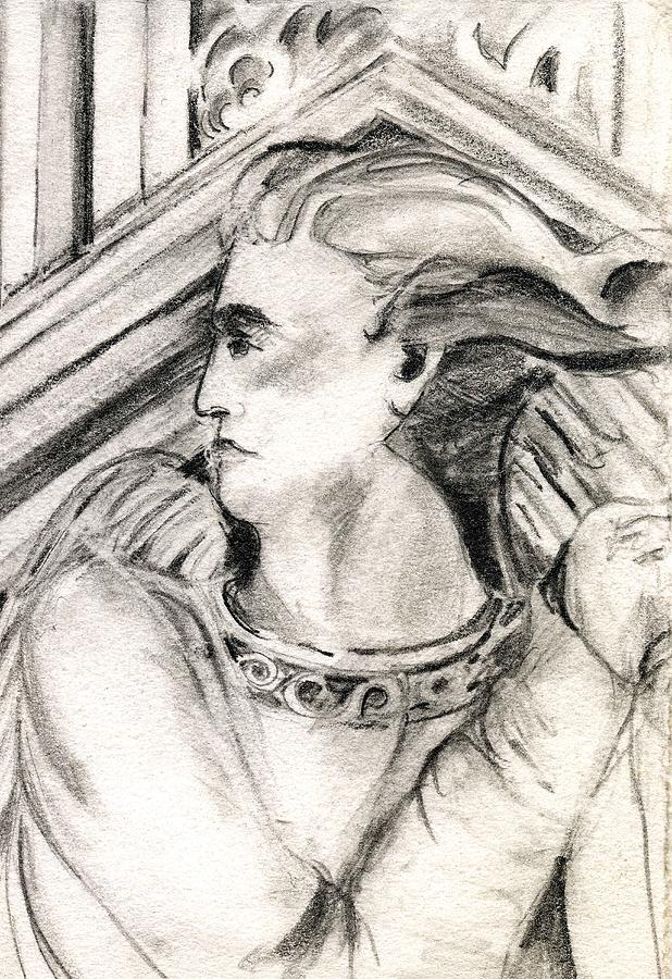 Drawing Drawing - Angel Of Orieveto Italy by Mindy Newman