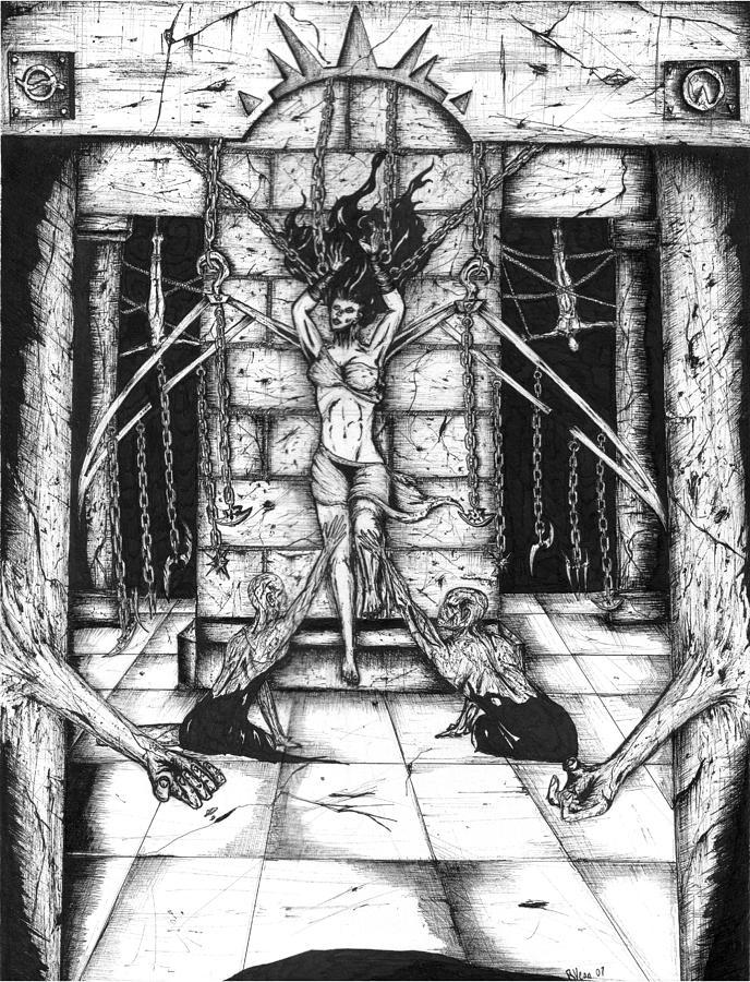 Bob Veon Drawing - Angel Of Perversity by Bob Veon