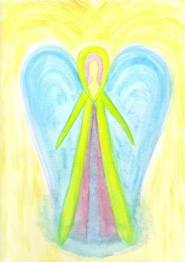 Angel Painting - Angel Of Protection by Konstadina Sadoriniou - Adhen