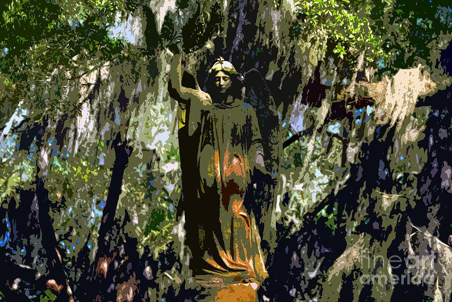 Angel Painting - Angel Of Savannah by David Lee Thompson