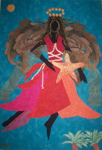 Angel Painting - Angel Of The Caribbean by Valerie X Armstrong