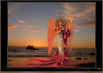 Angels Digital Art - Angel Of The Deep by Brenda Starr