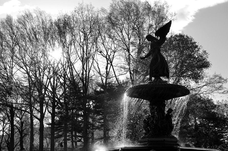Bethesda Terrace Photograph - Angel Of The Waters by Andrew Dinh