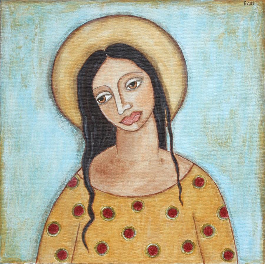 Folk Art Paintings Painting - Angel Of Tolerance by Rain Ririn