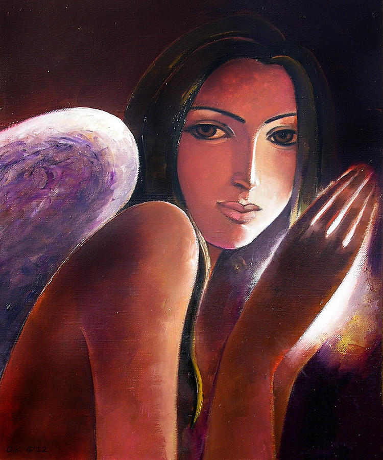 Original Painting - Angel by Ognian Kouzmanoav
