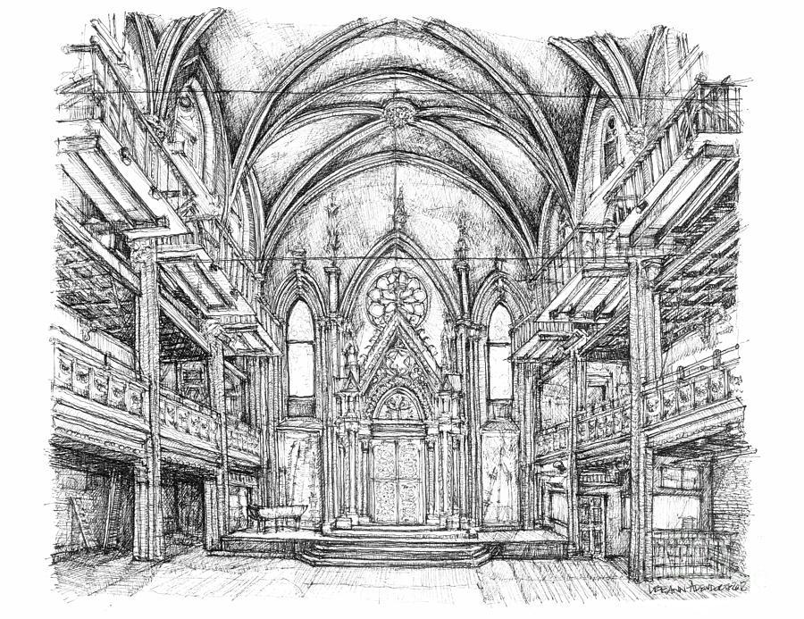Angel Drawing - Angel Orensanz Center In Nyc by Adendorff Design