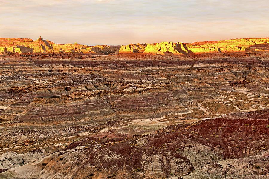 Angel Photograph - Angel Peak Badlands - New Mexico - Landscape by Jason Politte