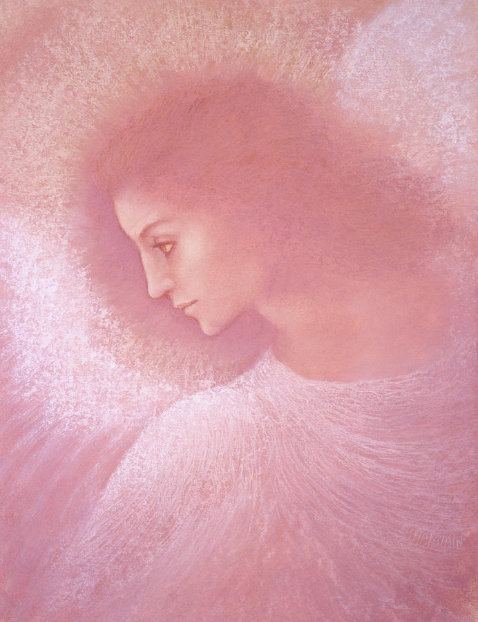 Angel Painting - Angel Profile by Jack Shalatain