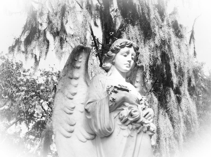 Statue Photograph - Angel by Sabrina  Long