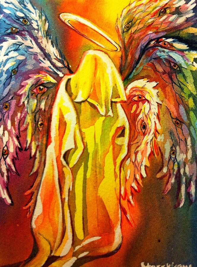 Angel Painting - Angel by Starr Weems