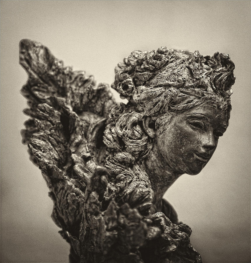 Angel Statue Photograph - Angel Statue by Robert Ullmann