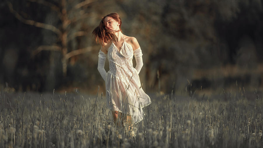 Light Photograph - Angel Summer by Dmitry Laudin