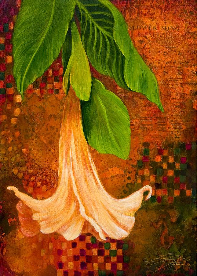 Flower Painting - Angel Trumpet by Lynn Lawson Pajunen