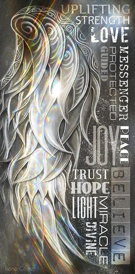 Angel Wing Word Art by Reina Cottier