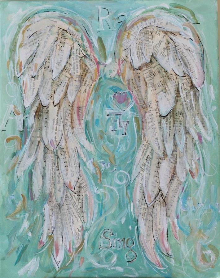Fabulous Angel Wings Fly Painting by Michelle Lake YE31