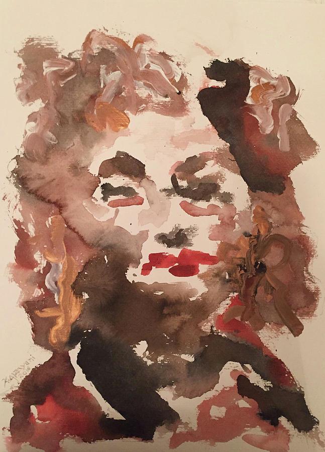 Impressionism Painting - Angela IIi by Khalid Alzayani