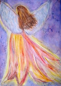 Angel Painting - Angelic by Donna Ryant