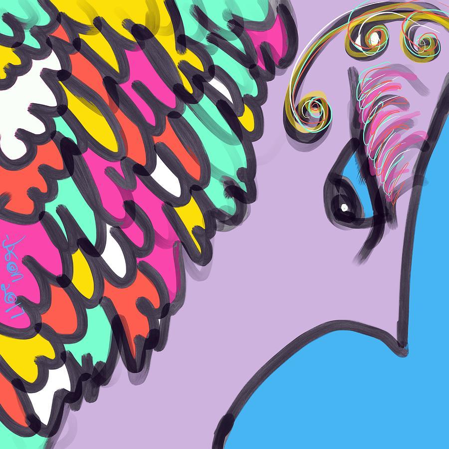 Angel Digital Art - Angelic Observer by Jason Nicholas