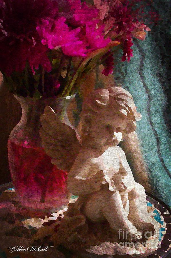 Vintage Photograph - Angelic Vintage Art by Bobbee Rickard