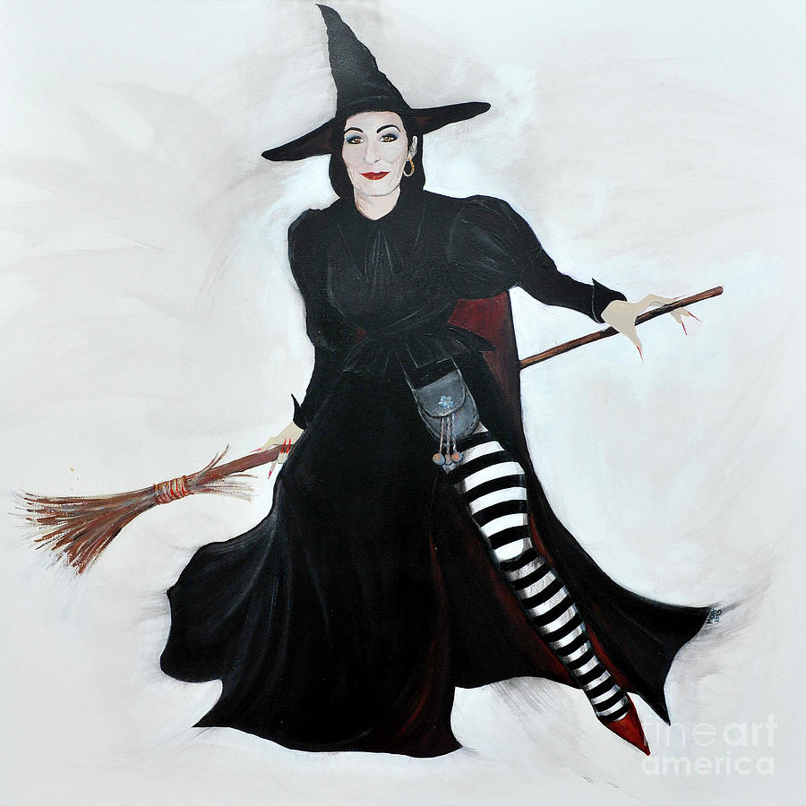 Angelica Painting - Angelica Houston Bewitched by Michelle Deyna-Hayward