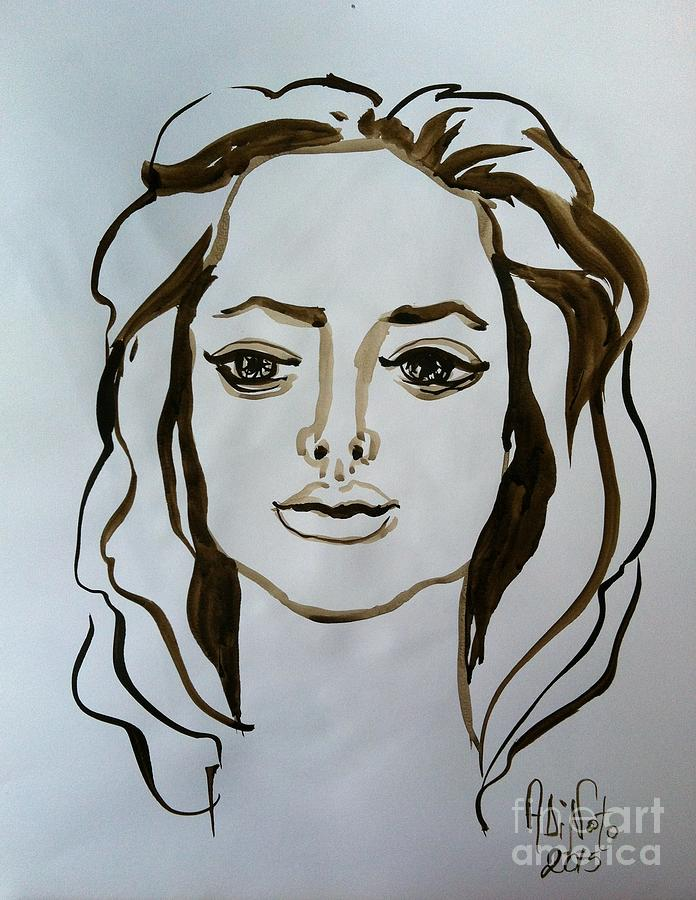 Angelina Painting by Alessandra Di Noto