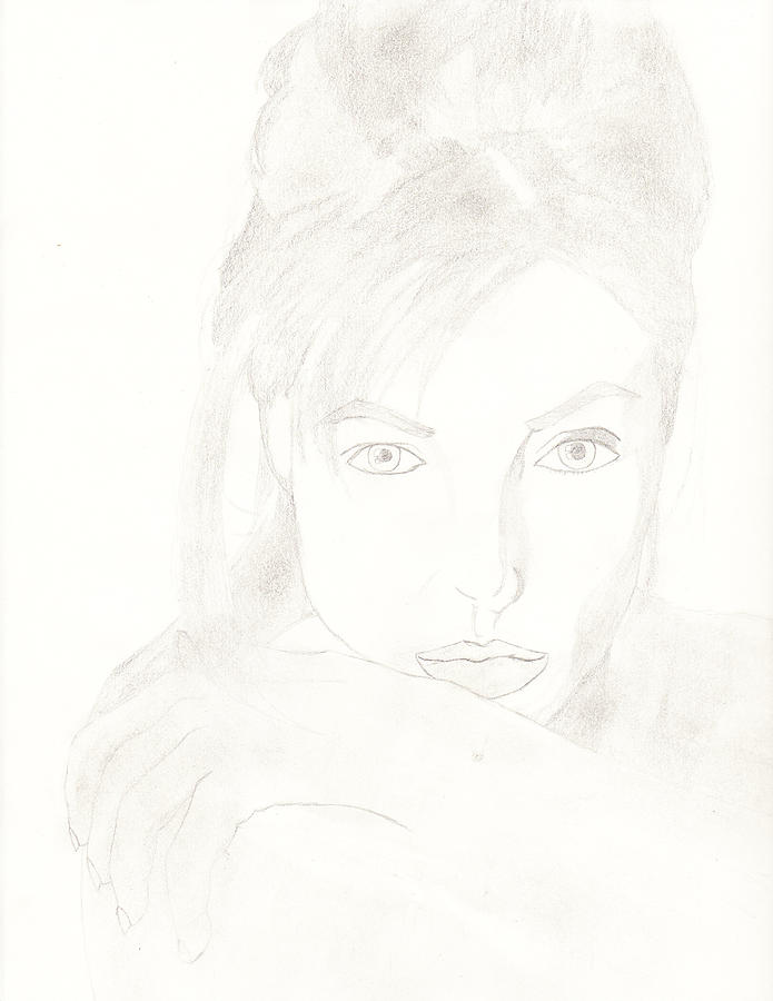 Celebrities Drawing - Angelina by Carlos Hyman