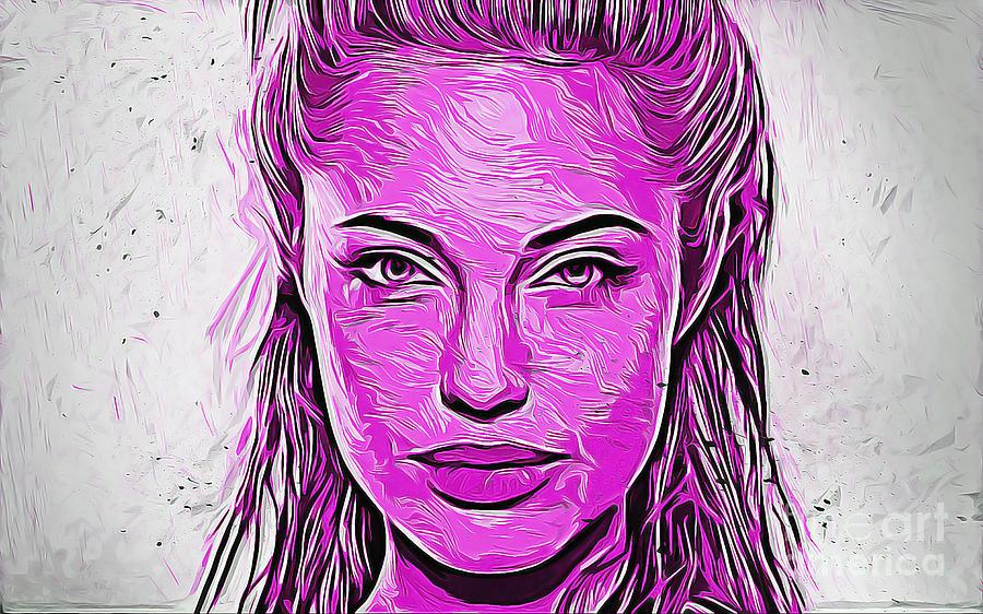 Famous Digital Art - Angelina by Ivan Gomez