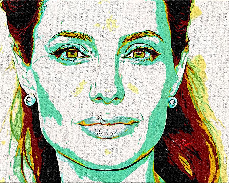 Angelina Jolie by Charlie Roman