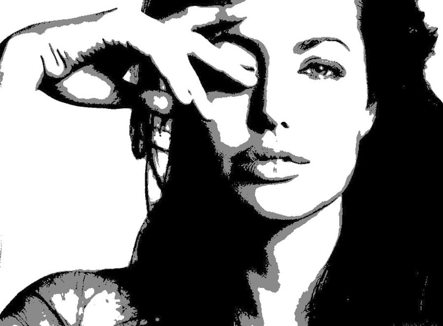 Angelina Jolie Painting - Angelina Jolie by Dan Carman
