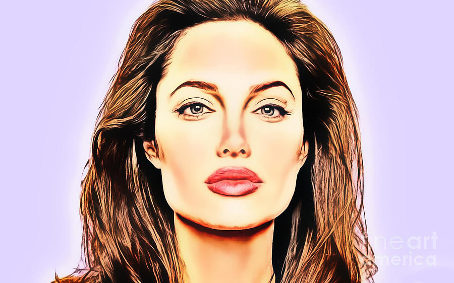 59e572e8 Angelina Jolie Painting by Ez Art