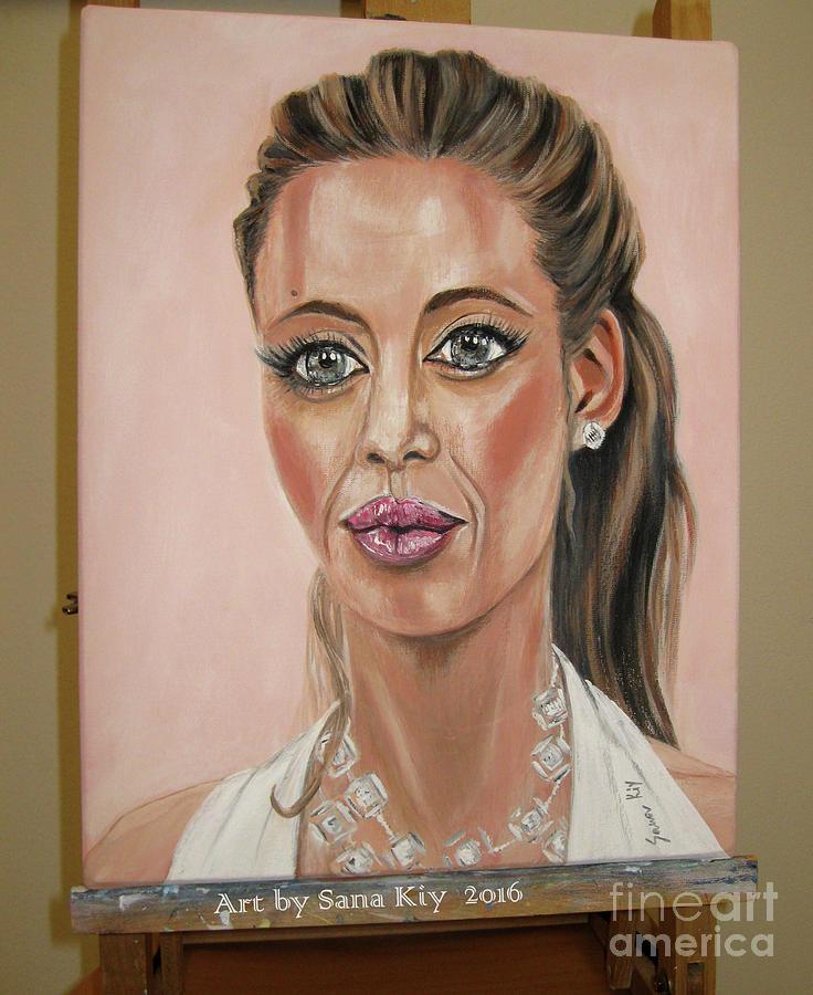 Angelina Jolie. Portrait by Oksana Semenchenko