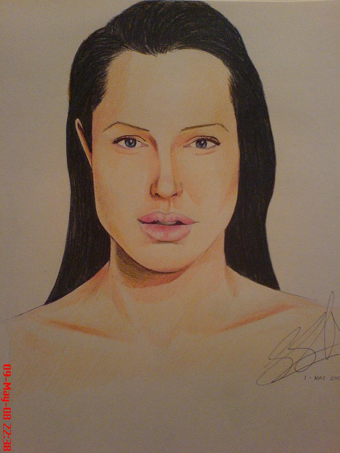 Tom Cruise Painting - Angelina Jolie by San Art Studio