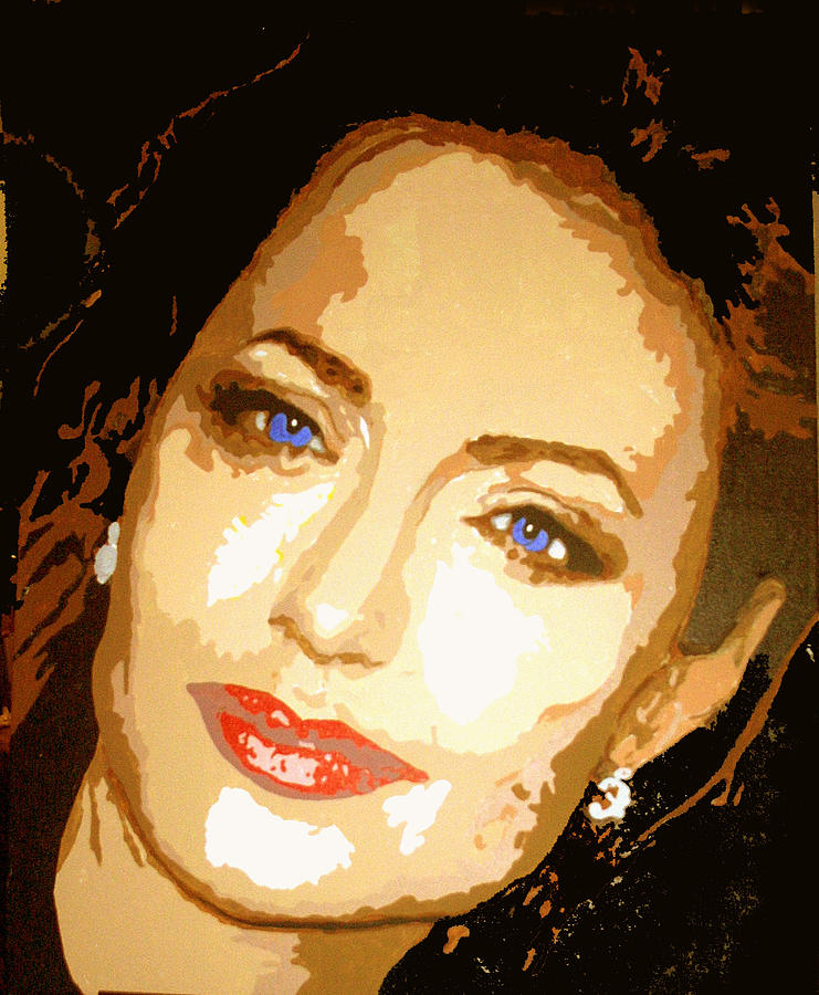 Celebrities Painting - Angelina by Richard La Valle