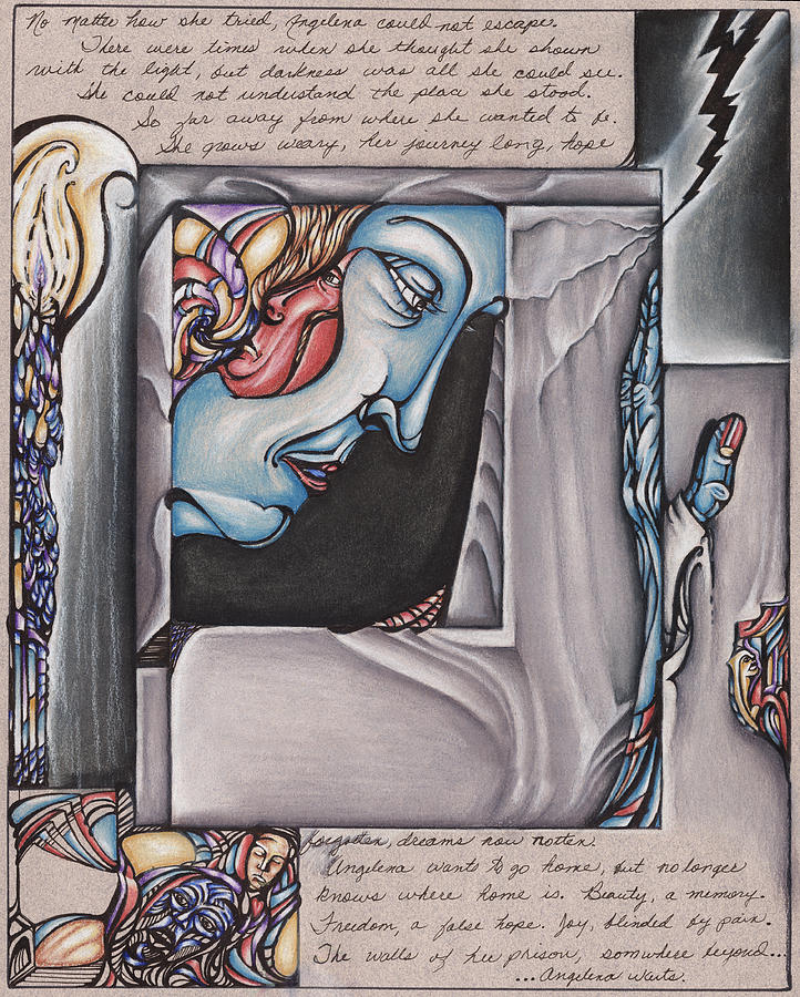 Surreal Drawing - Angelinas Resolution by Karen Musick