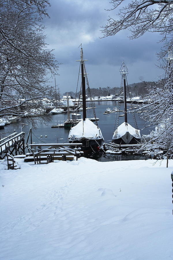 Seascape Photograph - Angelique And Lewis R French In The Snow by Doug Mills