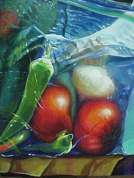 Vegetables Painting - Angelos Gift by Bobbi Baltzer-Jacobo