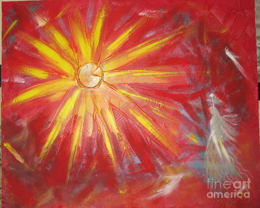 Abstract Painting - Angels Celebration by Carmen Faya-Gomila