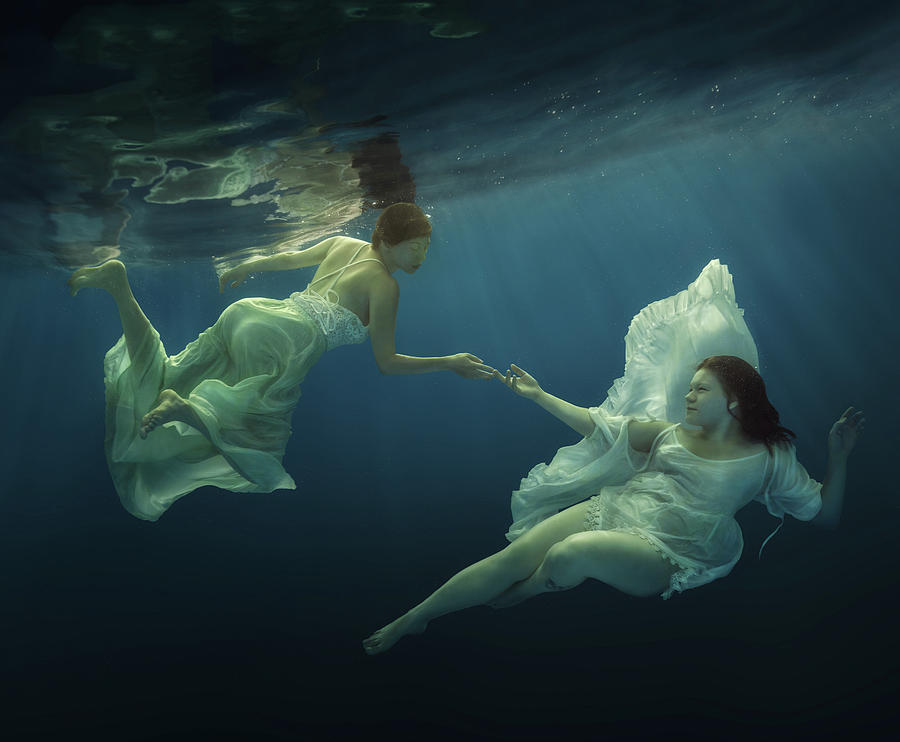Underwater Photograph - Angels by Dmitry Laudin