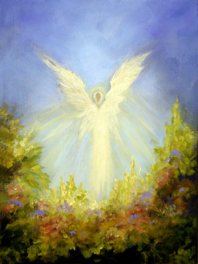 Angel Painting - Angels Garden by Marina Petro