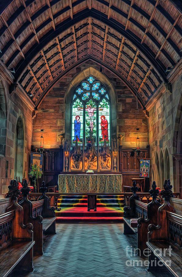 Church Mixed Media - Angels Light by Ian Mitchell