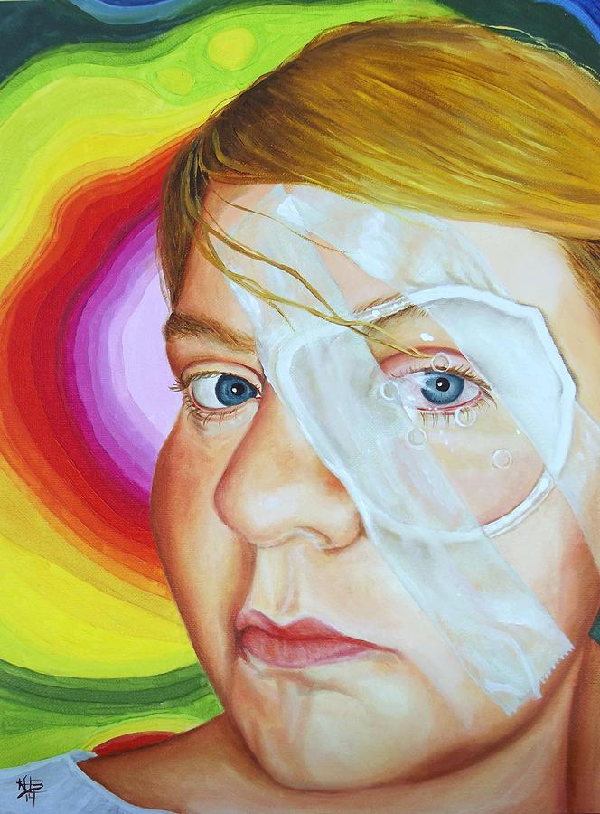 Keratoconus Painting - Angels New Look by Kirsten Beitler
