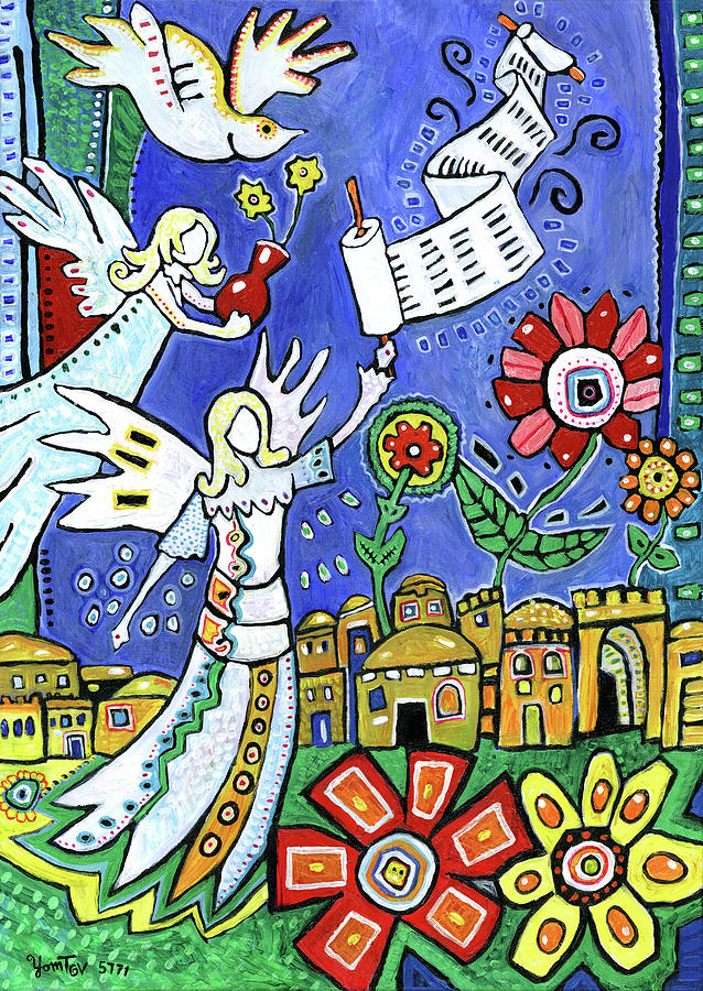 Angels Over Jerusalem by Yom Tov Blumenthal
