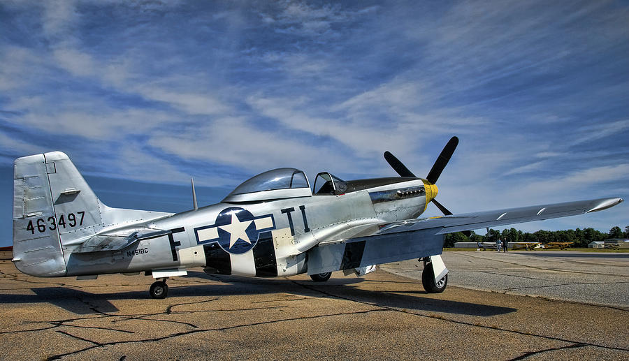 P-51 Mustang Photograph - Angels Playmate  by Steven Richardson