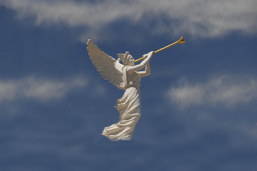 Angel Digital Art - Angels Trumpet by David Lee Thompson