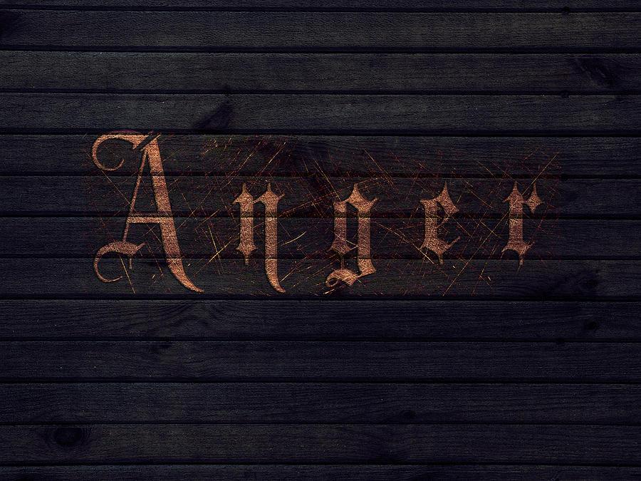 Wood Digital Art - Anger by Ivan Csorgo